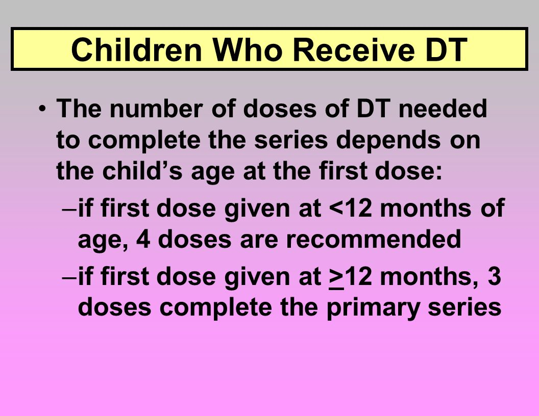 Children Who Receive DT