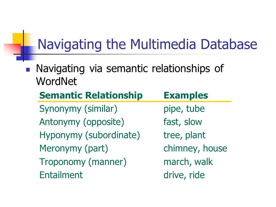 Navigating the Multimedia Database