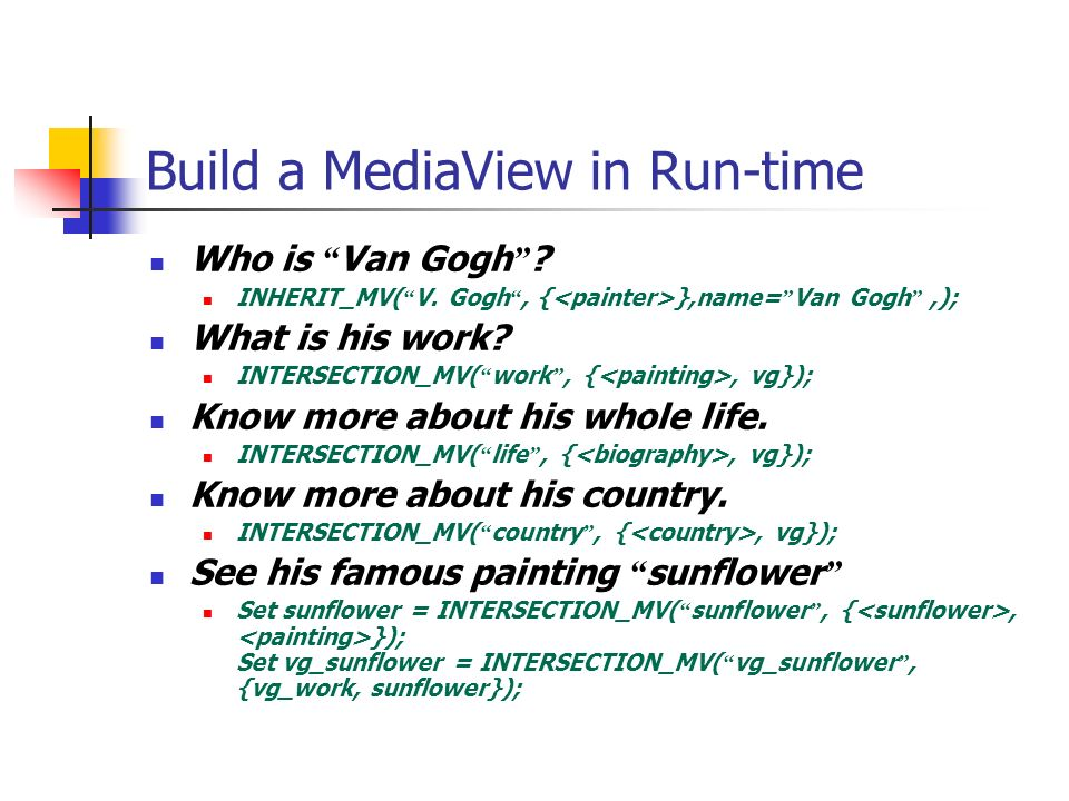 Build a MediaView in Run-time