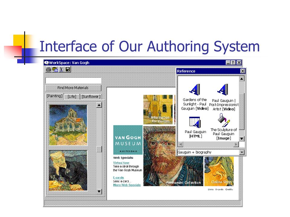 Interface of Our Authoring System