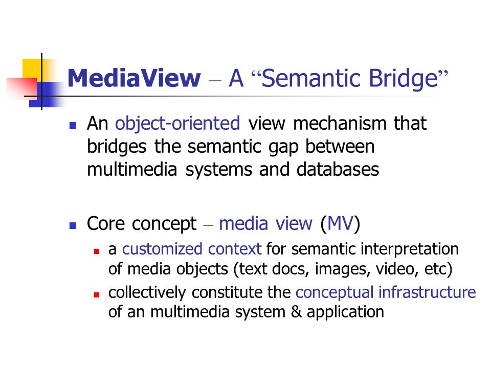 MediaView – A Semantic Bridge