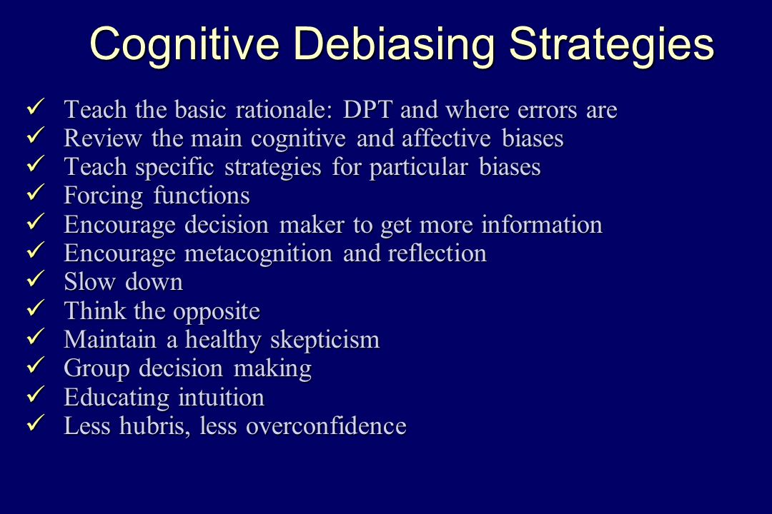 Biases And Debiasing Pat Croskerry Md Phd Ppt Video