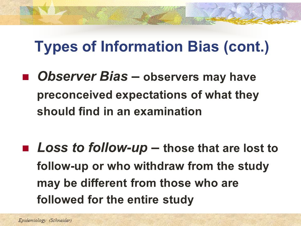 how to avoid observer bias
