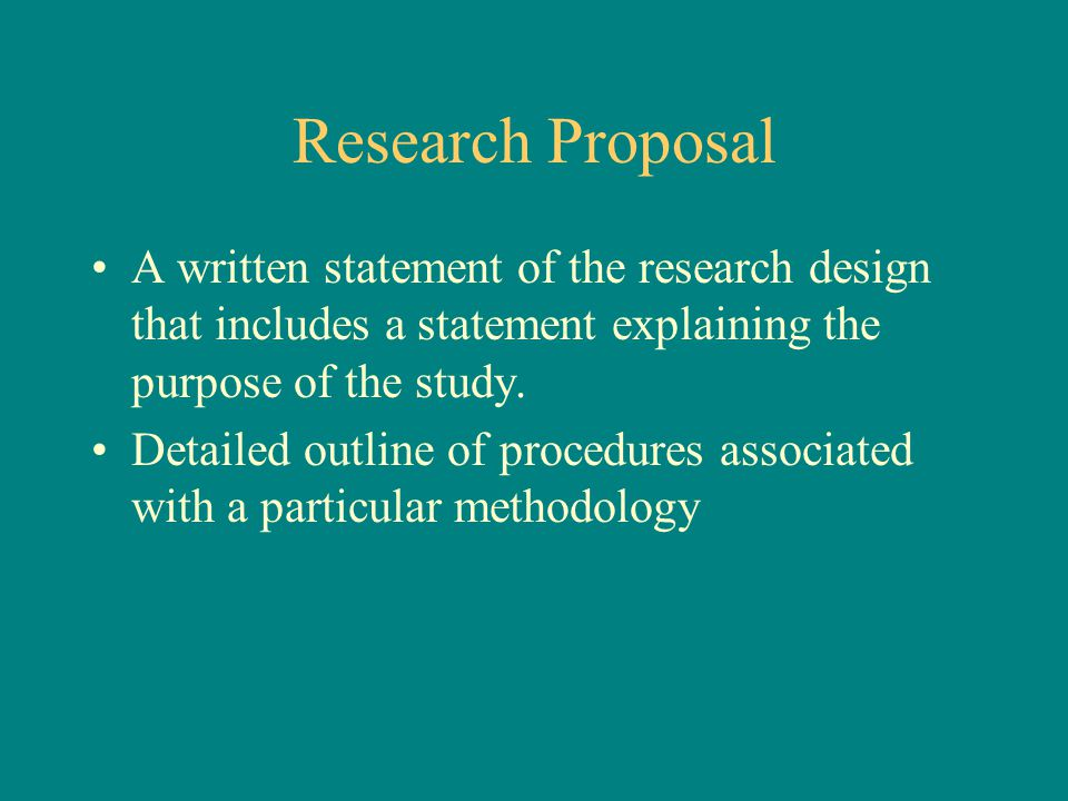 Research proposal statement of purpose