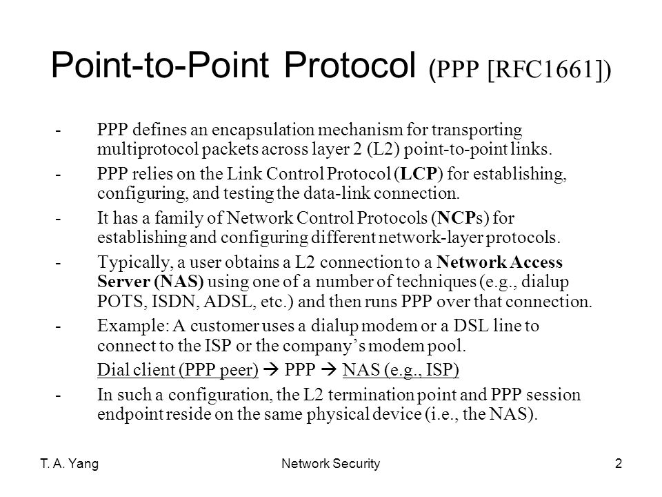 Point-to-Point Protocol (PPP [RFC1661])