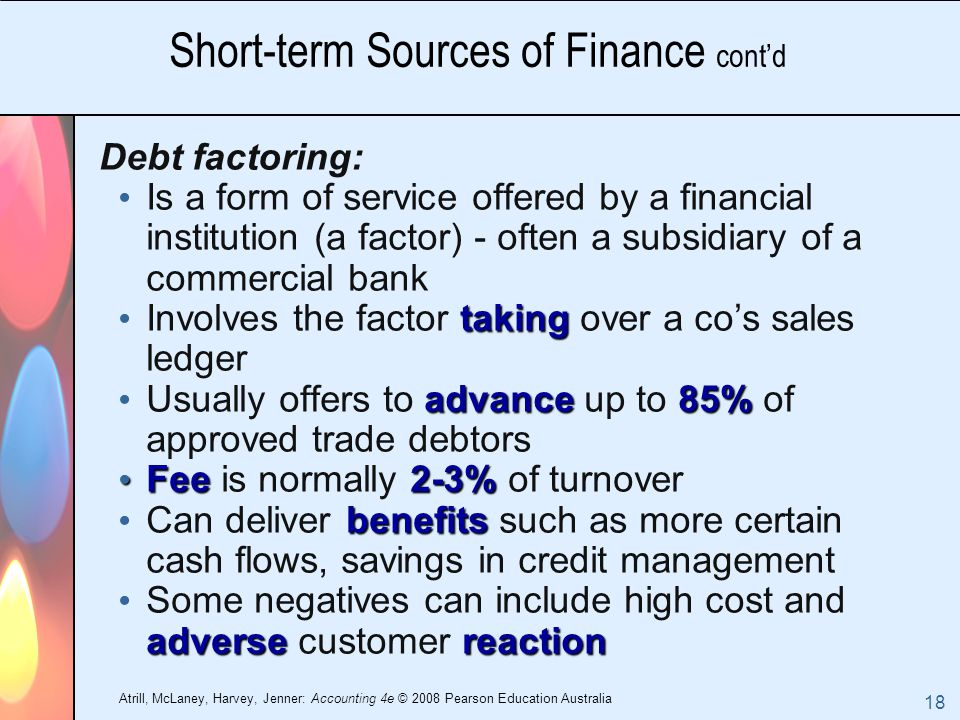 finance and short term debt Short-term debt is defined as a loan for a period of one year or less, according to investorwordscom businesses benefit from using short-term debt in different ways indeed, businesses of all.