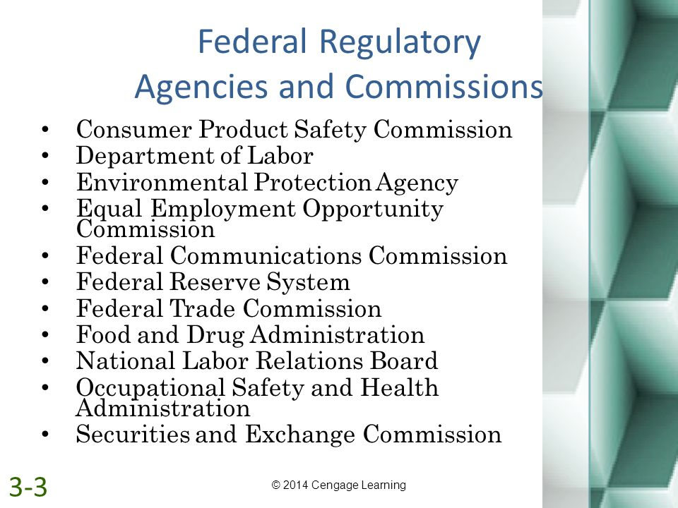 Federal Regulatory Agencies and Commissions