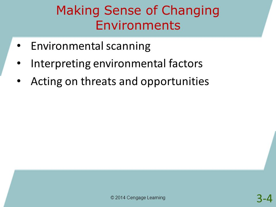 Making Sense of Changing Environments