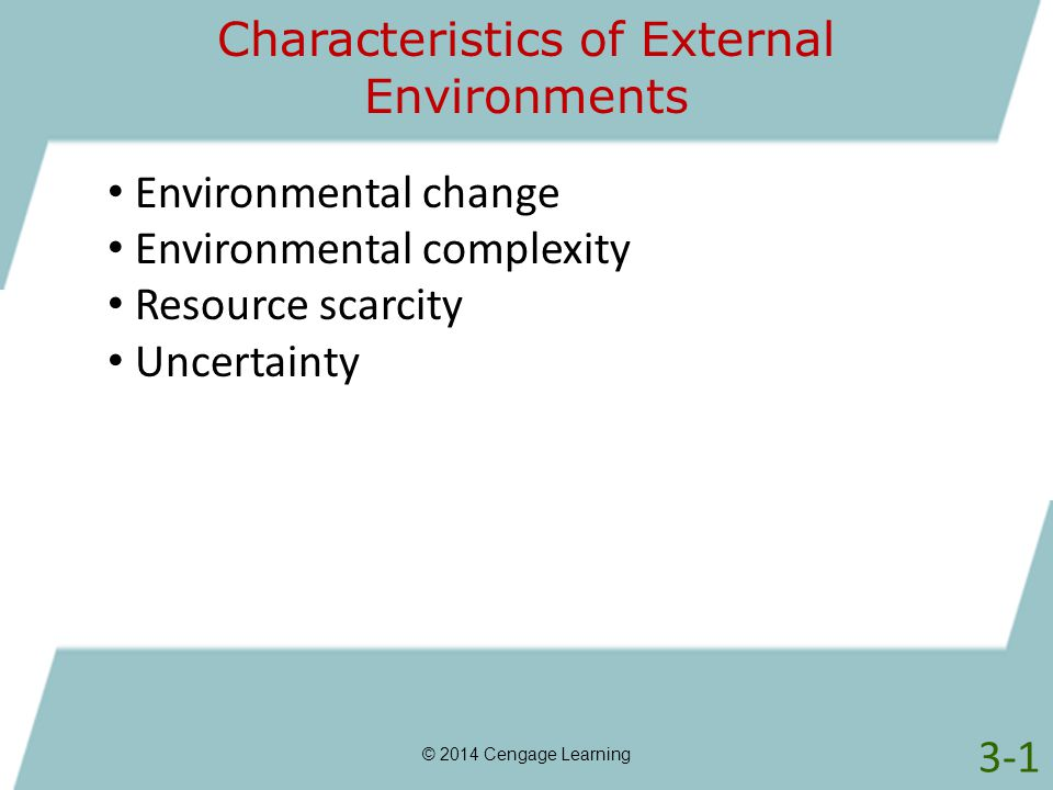 Characteristics of External Environments