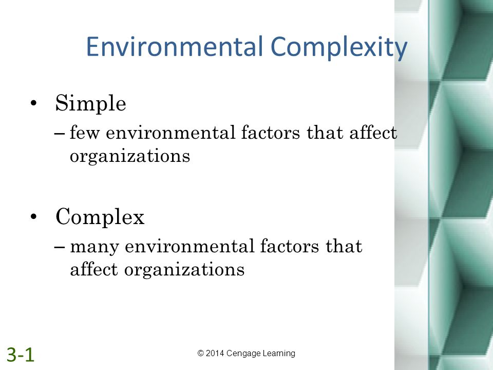 Environmental Complexity