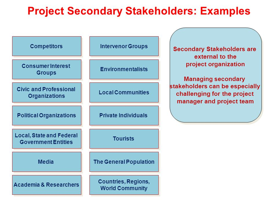what is a secondary stakeholder
