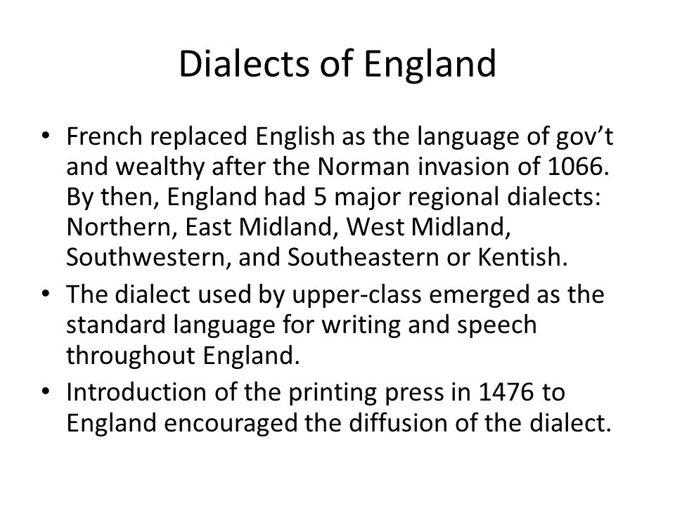 Dialects of England