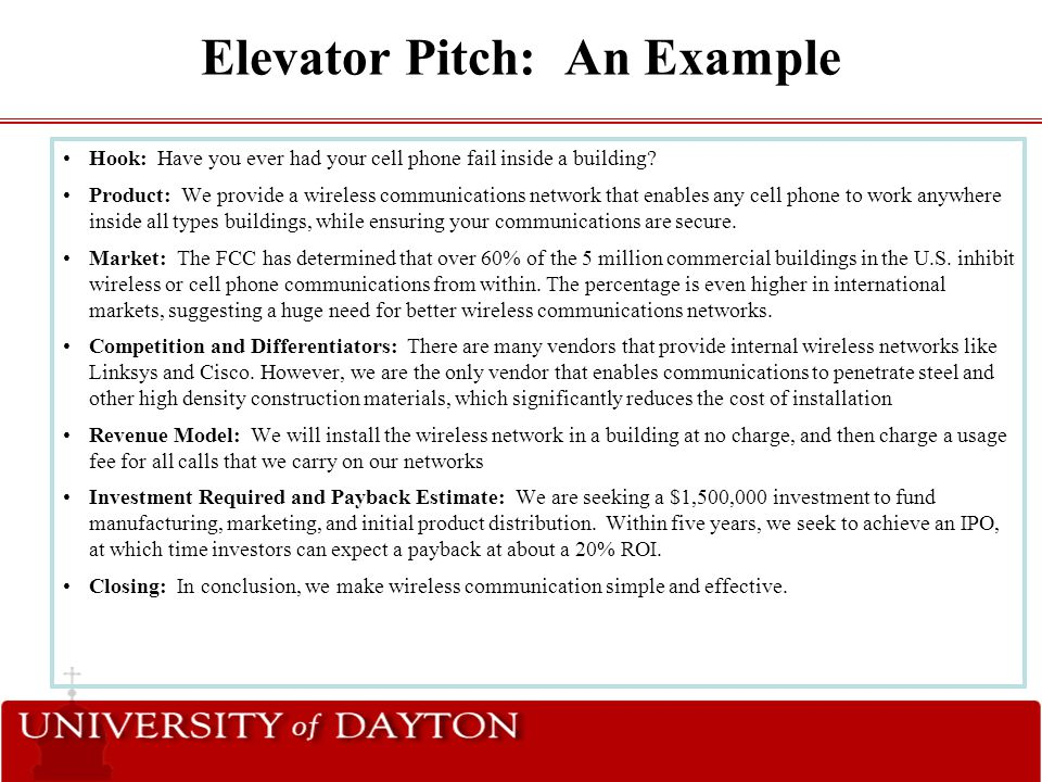 "The ""Art"" Of The Elevator Pitch - Ppt Video Online Download"