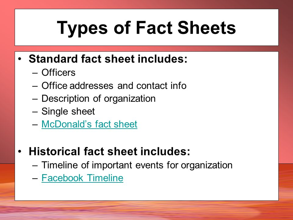 media kits  fact sheets  media alerts and pitch letters