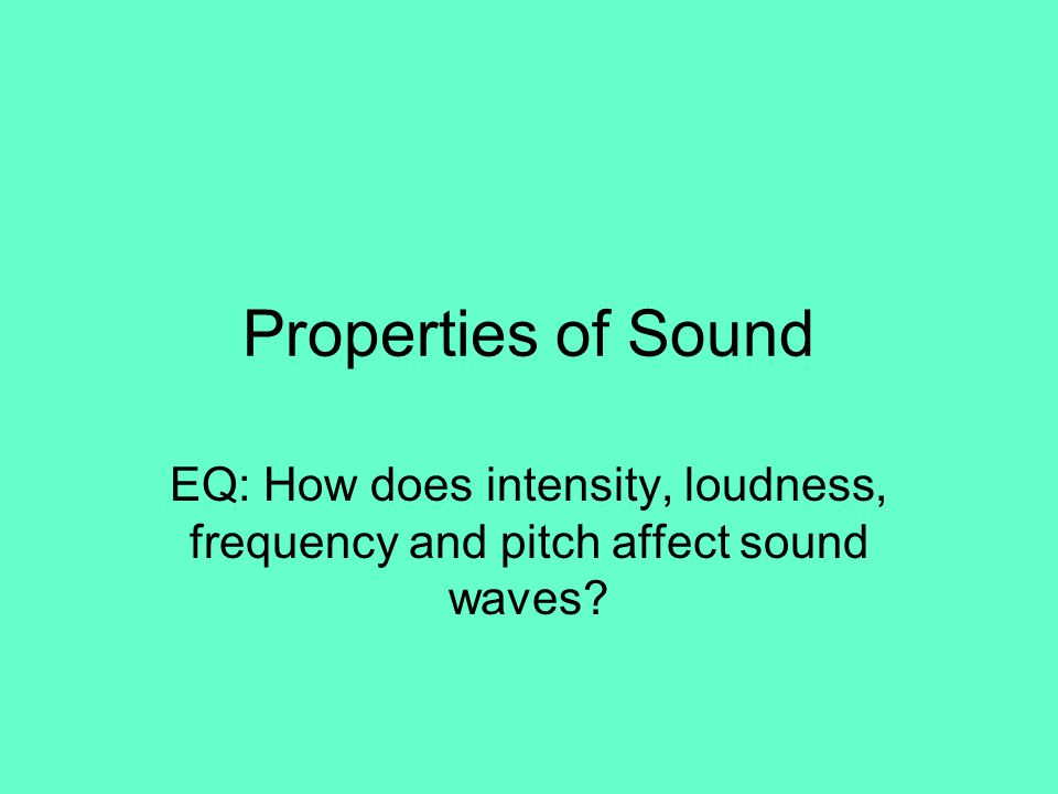 frequency and volume of sound waves lab report The sound waves reflected from the water  repeat step 4 for the other tuning fork with a different frequency in the lab report you will need to calculate.