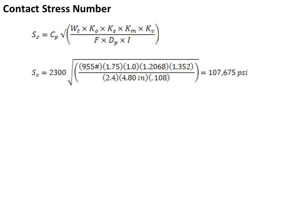 Contact Stress Number
