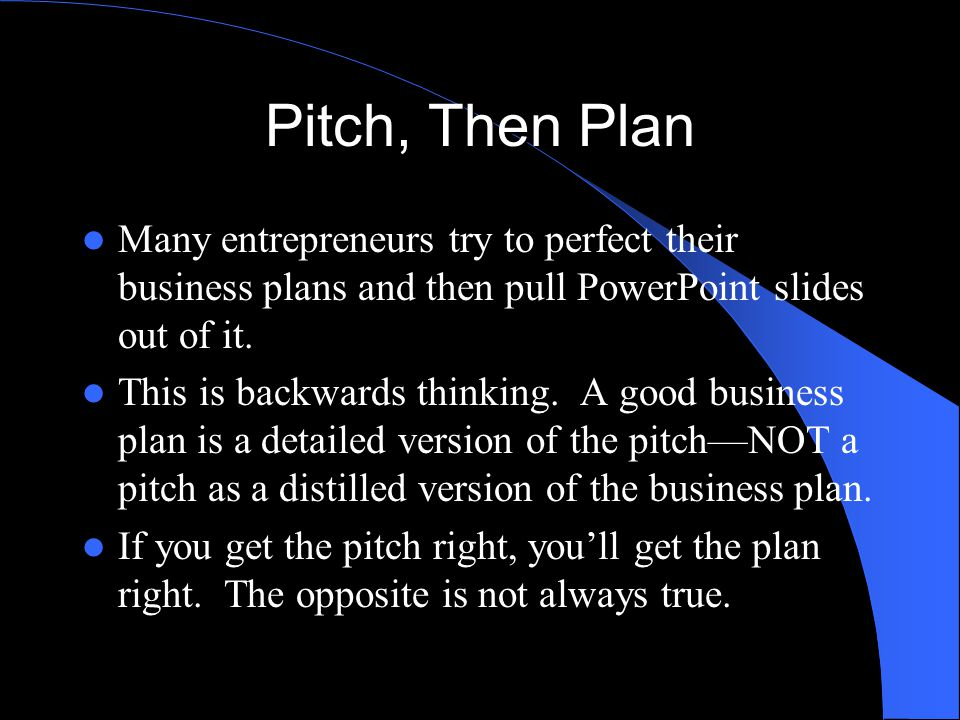 the pitch-then-plan business planning template - ppt video online, Presentation templates