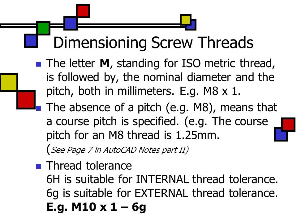how to draw metric threads in autocad