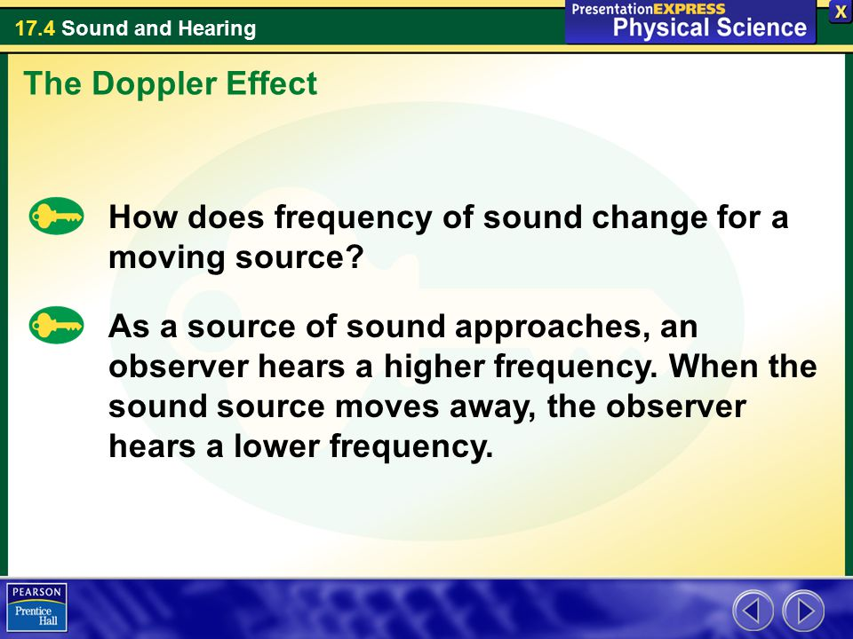 The Doppler Effect How does frequency of sound change for a moving source