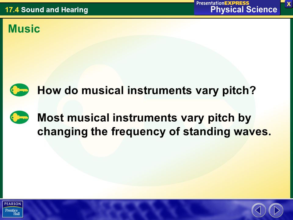 Music How do musical instruments vary pitch.