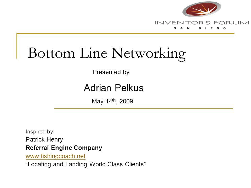 Bottom Line Networking