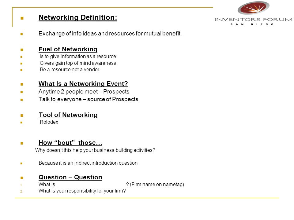 Networking Definition: