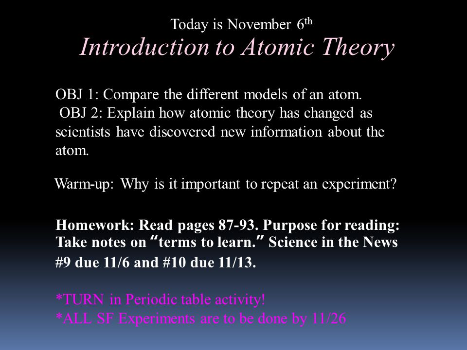 introduction to atomic theory