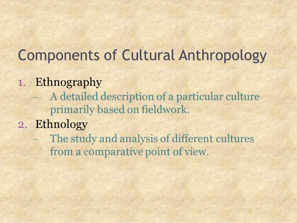 Cultural analysis