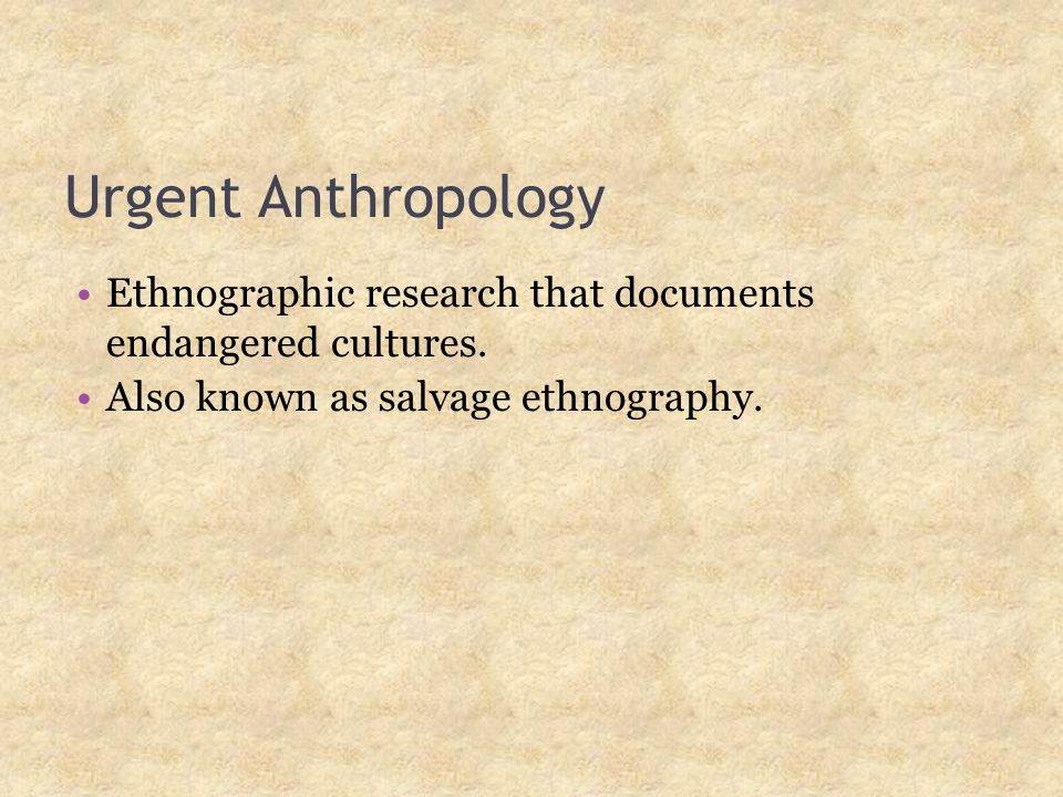 enthonographic research Basic classical ethnographic research methods ethnography methodological, and epistemological attributes, i posit two of the attributes as.