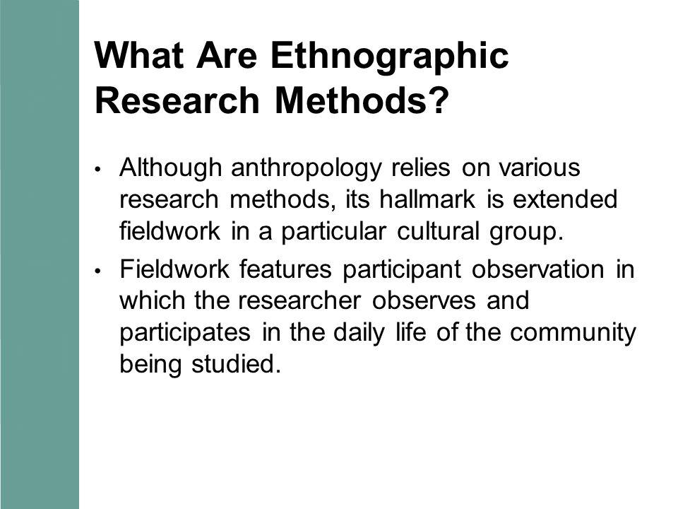 ethnographic methods Loyola university chicago loyola ecommons anthropology: faculty publications and other works faculty publications 2012 ethnographic methods kathleen m adams.