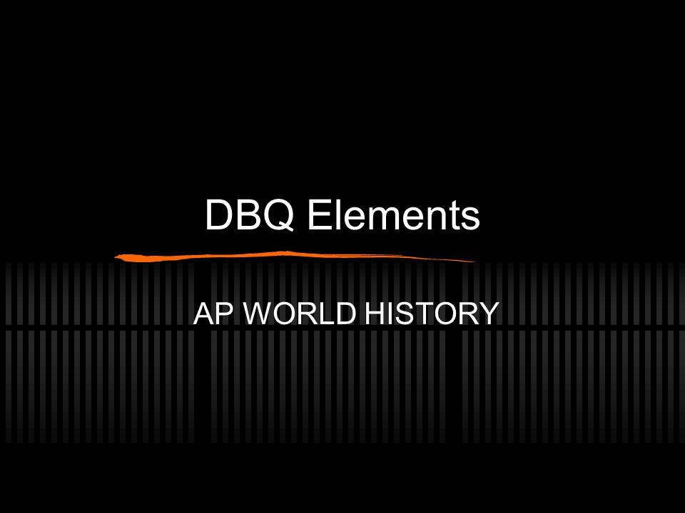 elements of a dbq essay
