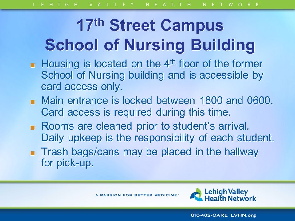 17th Street Campus School of Nursing Building