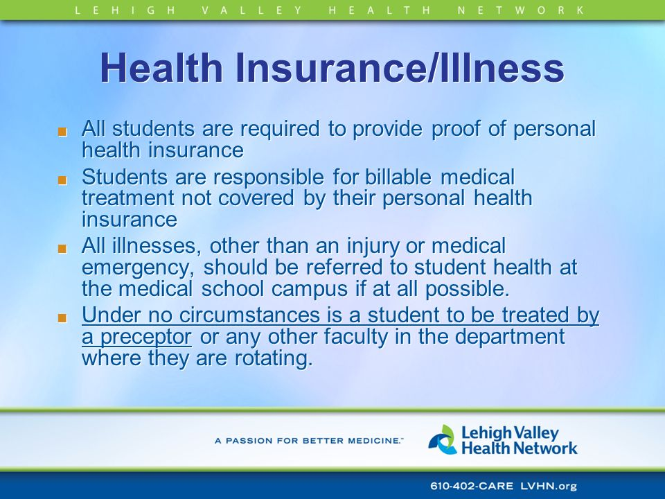 Health Insurance/Illness