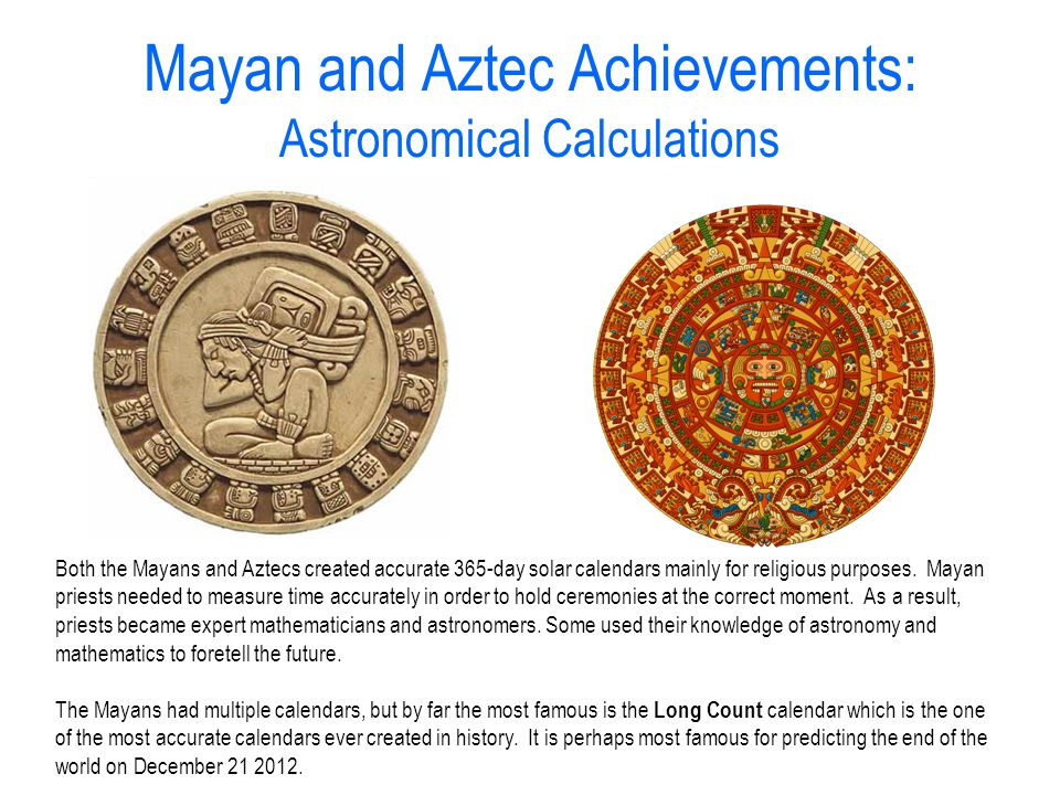 3/26 Aim: How were the Mayans and Aztecs Similar ...