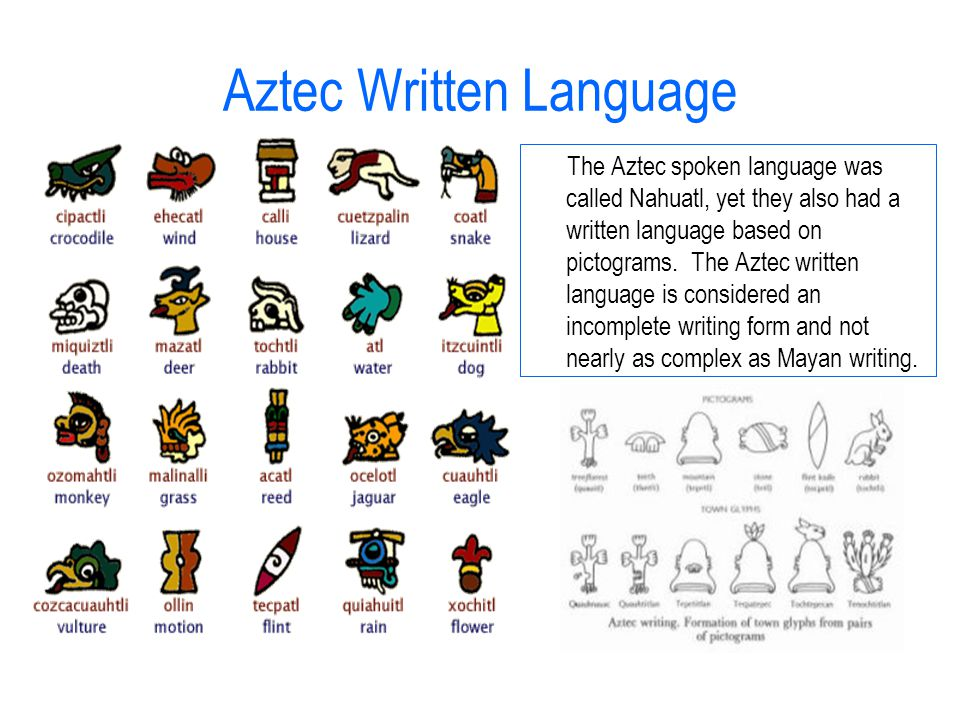 aztec writing - mayan, inca, and aztec civilizations the mayan, inca, and aztec civilizations each originated from latin america the mayans lived in southern and central mexico, other mayans lived in central america in the present day countries of belize, guatemala, and ancient honduras.