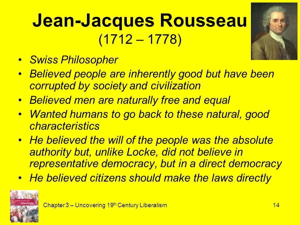 Jean Jacques Rousseau Beliefs The History of Classic...