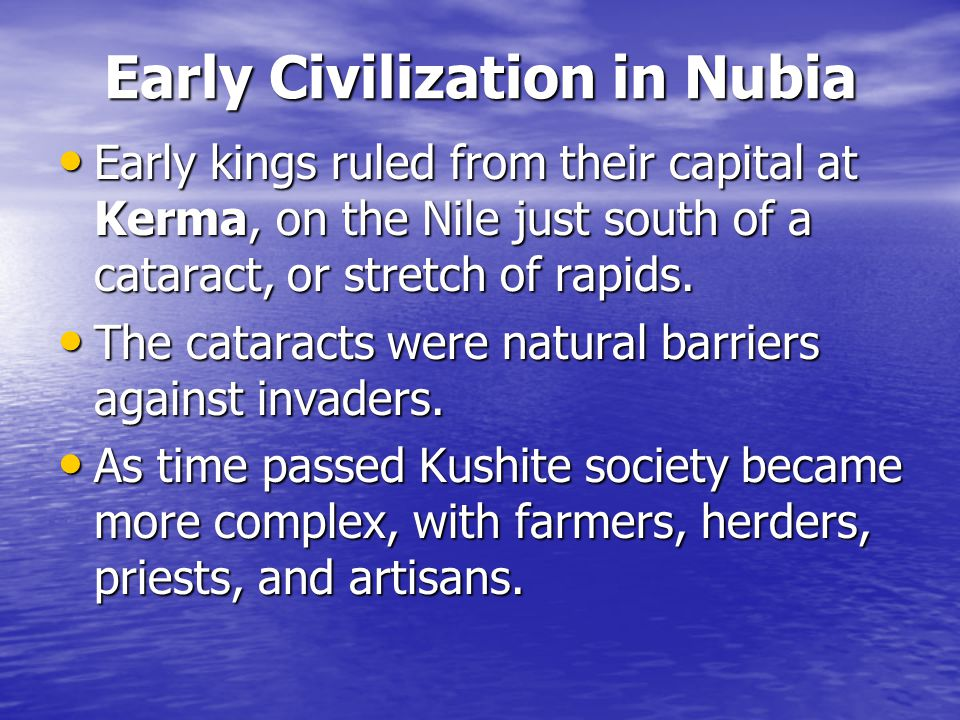 Early Civilization in Nubia