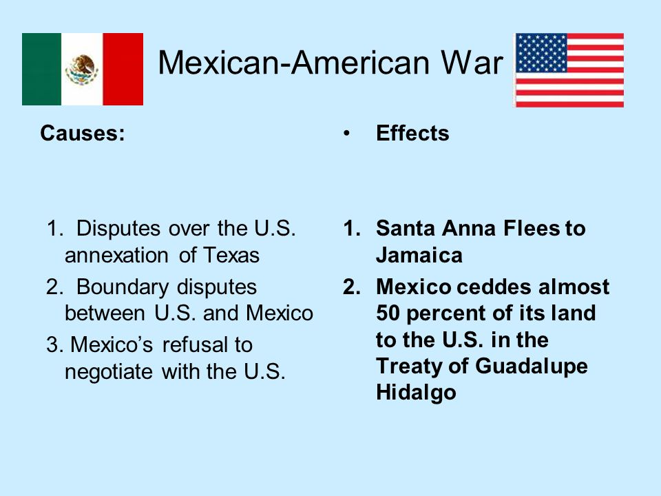 The impact of sectionalism in the mexican american war