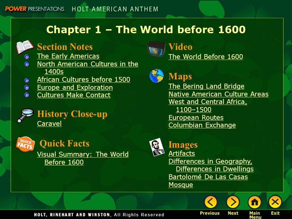 Chapter 1 the world before ppt download for North american culture facts