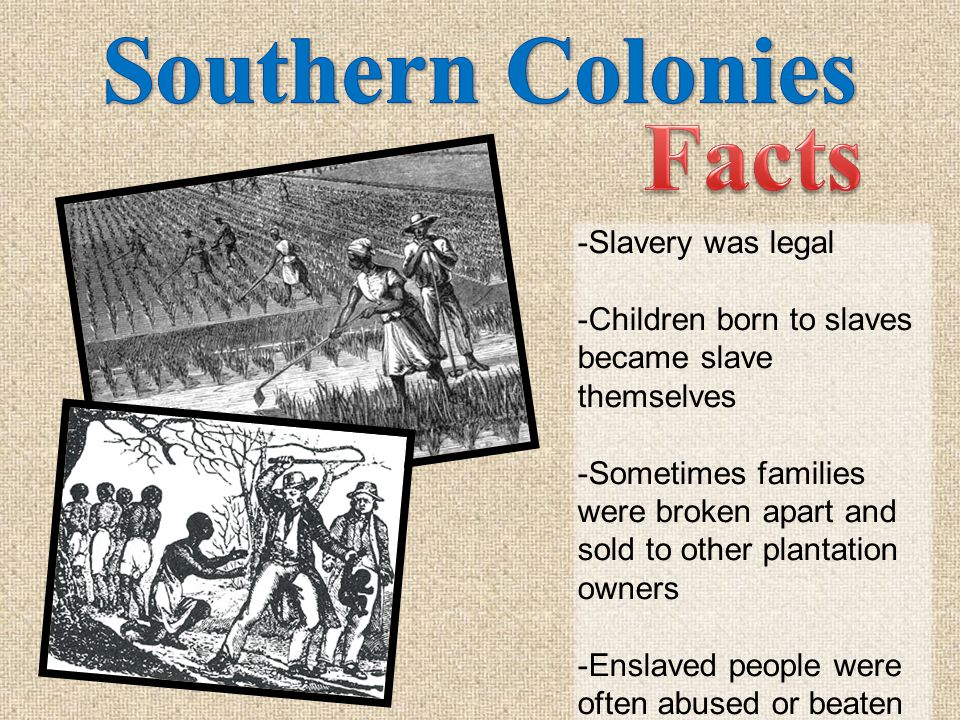 slavery in the colonies Some colonies made it a crime to teach a slave to read or white no even conversion to christianity could qualify a slave for freedom slavery might have begun in america for economic reasons, but by the end of the seventeenth century, it was clear that racial discrimination also powerfully molded the american slave system.