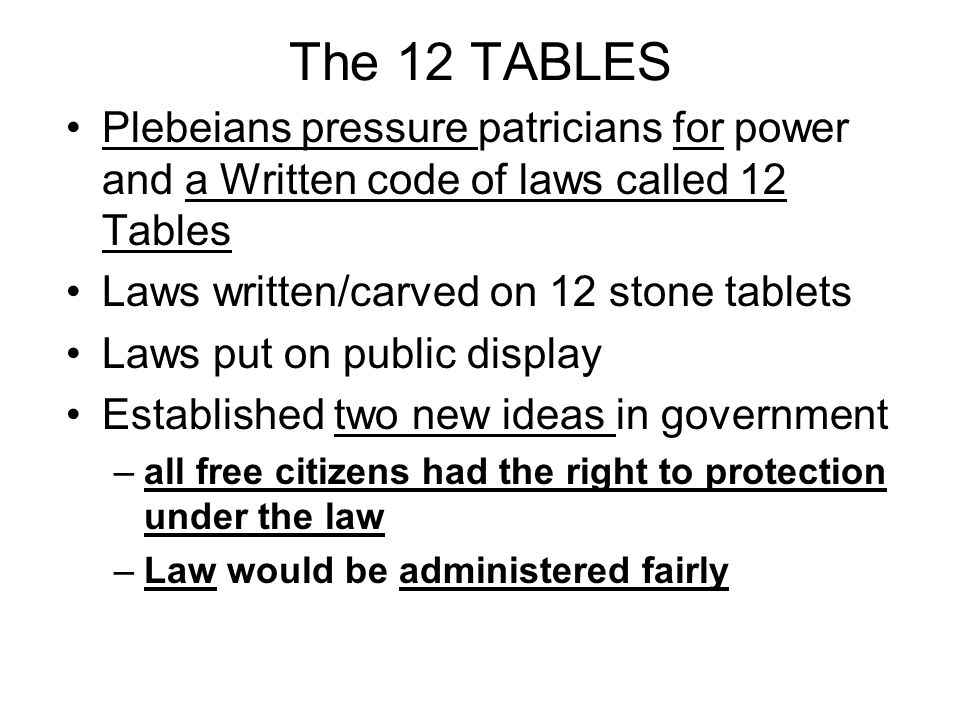 The rise of democratic ideas ppt video online download for 12 table laws