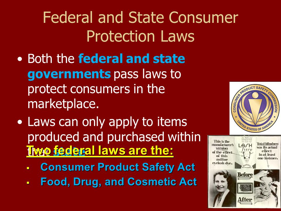 How does the law protect consumer