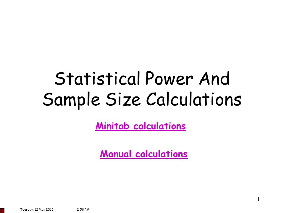 Statistical Power And Sample Size Calculations - ppt download