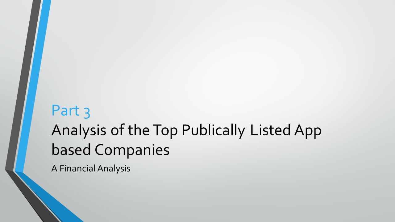 Part 3 Analysis of the Top Publically Listed App based Companies