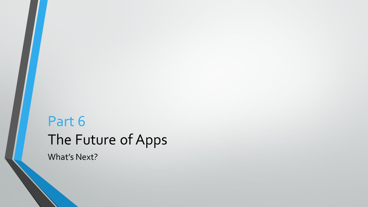 Part 6 The Future of Apps What's Next