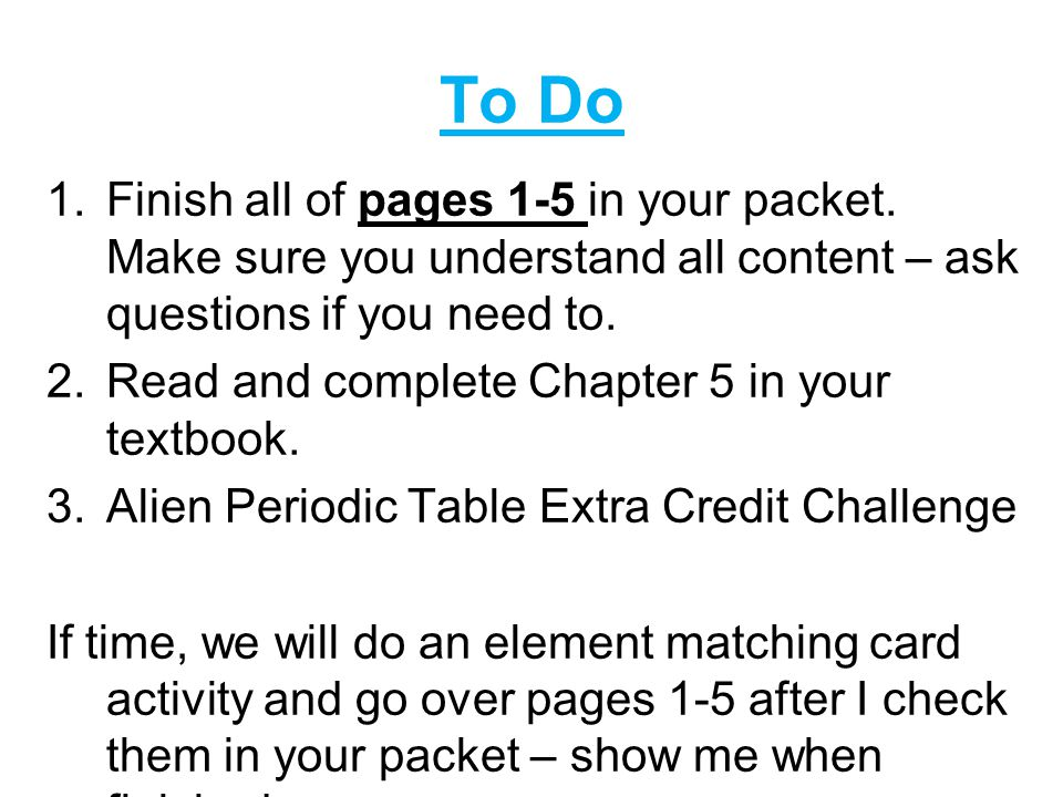 Periodic table alien periodic table answers questions periodic block day bellwork pick up your textbook the notes slip and the periodic table alien periodic table answers questions urtaz Choice Image