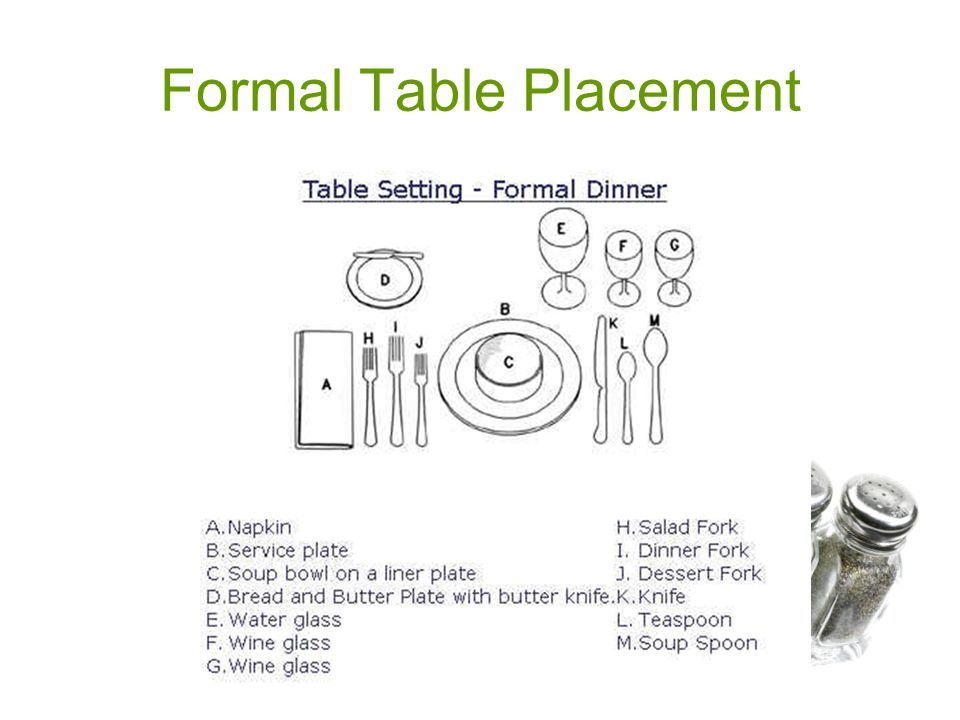 14 Formal Table Placement  sc 1 st  SlidePlayer & Table Placement. - ppt video online download