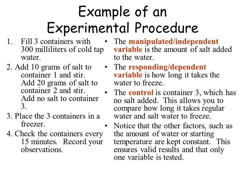 an overview of an experimental procedure Overview of non-experimental methods the remember/know procedure.