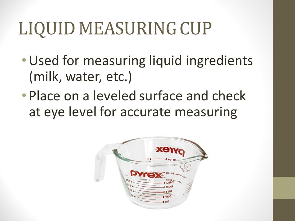 how to use measuring cups for liquid ingredients