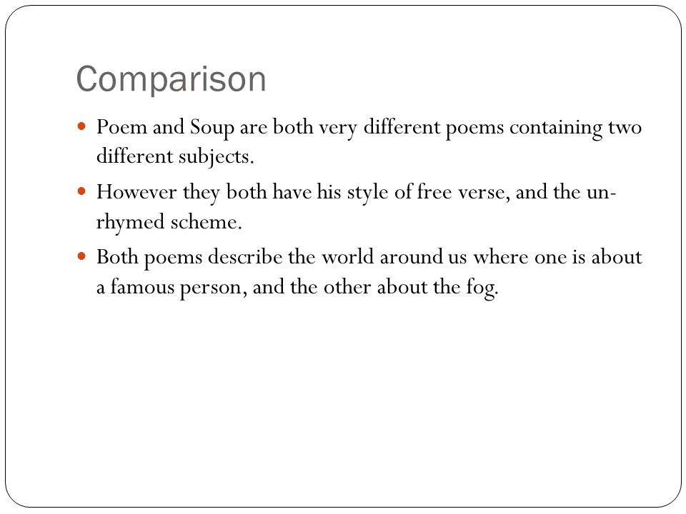 a comparison of different american poems The poetry of american indians can only be reconstructed with great difficulty  the content and structure of medicine songs reveal differences among various.
